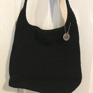 The Sak Black Crochet Shoulder Purse